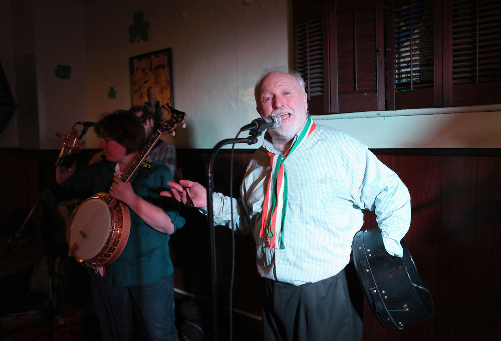 Derek Warfield and the Young Wolfe Tones perform at the Golden Ace in Indianapolis, Indiana.