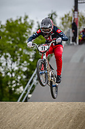 #11 (WILLOUGHBY Alise) USA during practice at Round 3 of the 2019 UCI BMX Supercross World Cup in Papendal, The Netherlands