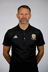 NANNING, CHINA - Saturday, March 24, 2018: Wales' manager Ryan Giggs during a squad photo shoot at the Wanda Realm Hotel on day five of the 2018 Gree China Cup International Football Championship. (Pic by David Rawcliffe/Propaganda)