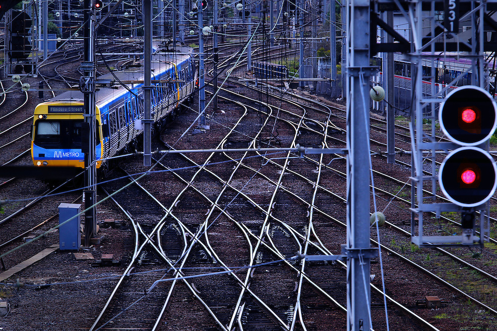 Railway tracks north of Southern Cross Station  - Pic By Craig Sillitoe 29/07/2010 melbourne photographers, commercial photographers, industrial photographers, corporate photographer, architectural photographers, This photograph can be used for non commercial uses with attribution. Credit: Craig Sillitoe Photography / http://www.csillitoe.com<br />