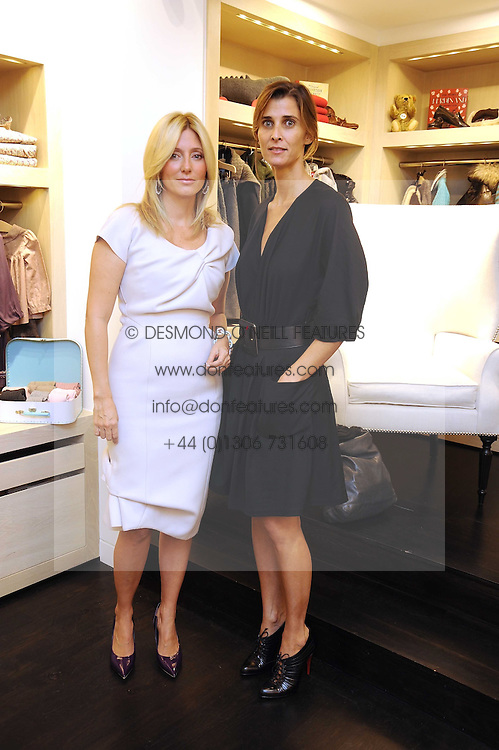 Left to right, PRINCESS MARIE-CHANTAL OF GREECE and PRINCESS ROSARIO OF BULGARIA at a party to celebrate the opening of Pincess Marie-Chantal of Greece's store 'Marie-Chantal' 133A Sloane Street, London on 14th October 2008.