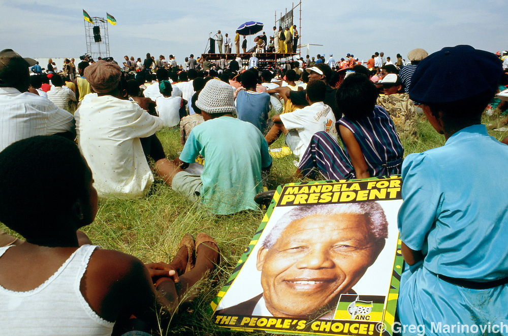 South Africa 1994. ANC rally during the election campaign.