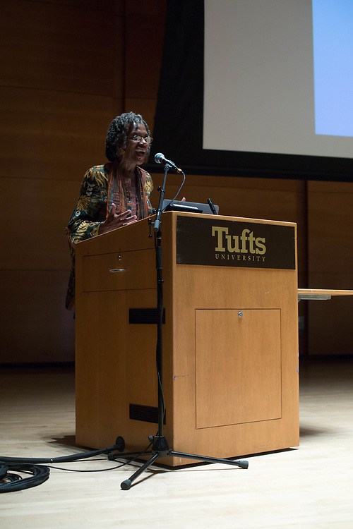 10/25/17 - Medford/Somerville, MA - Speaker for Global Humanitarian Citizens Award, on Oct. 25, 2017. (Sophie Dolan / The Tufts Daily)