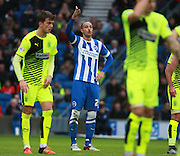 Brighton striker Bobby Zamora during the Sky Bet Championship match between Brighton and Hove Albion and Huddersfield Town at the American Express Community Stadium, Brighton and Hove, England on 23 January 2016. Photo by Bennett Dean.