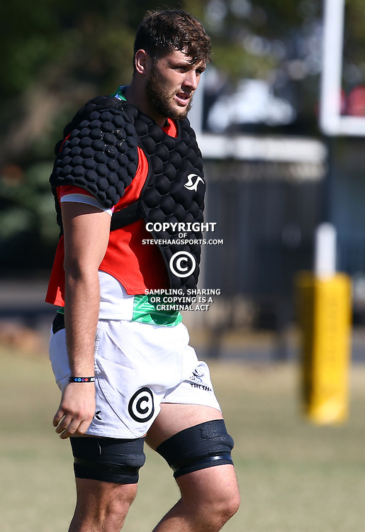 DURBAN, SOUTH AFRICA, 18,JULY, 2016 - Ruan Botha during The Cell C Sharks training session at Growthpoint Kings Park in Durban, South Africa. (Photo by Steve Haag)<br /> <br /> images for social media must have consent from Steve Haag