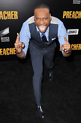 """Malcolm Barrett arrives at AMC's """"Preacher"""" Season 2 Premiere Screening held at the Theater at the Ace Hotel in Los Angeles, CA on Tuesday, June 20, 2017.  (Photo By Sthanlee B. Mirador) *** Please Use Credit from Credit Field ***"""
