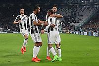 17.02.2017 - Torino - Serie A 2016/17 - 25a giornata  -  Juventus-Palermo nella  foto: Claudio Marchisio abbracciato dai compagni dopo il gol