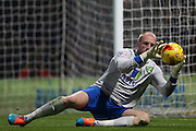 John Ruddy makes the save during the Sky Bet Championship match between Norwich City and Brighton and Hove Albion at Carrow Road, Norwich, England on 22 November 2014.