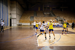 Players during practice session of Slovenian Women handball National Team three days before match against Serbia, on October 24, 2013 in Arena Tivoli, Ljubljana, Slovenia. (Photo by Vid Ponikvar / Sportida)