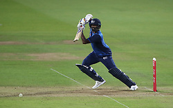 ICC Rest of the World XI Thisara Perera celebrates reaching his half century during the special fundraising T20 International match at Lord's, London.