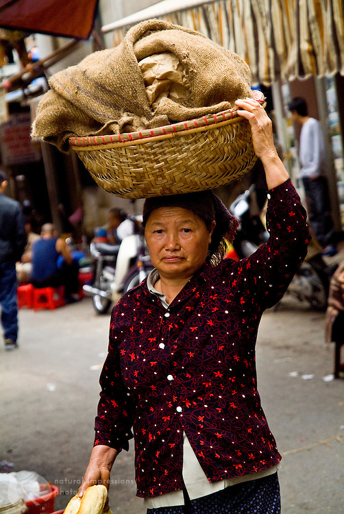 Vietnamese woman on a mission.