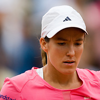 05 June 2007: Belgian player Justine Henin is seen during the French Tennis Open quarter final match won 6-4, 6-3 by Justine Henin over Serena Williams on day 10 at Roland Garros, in Paris, France.