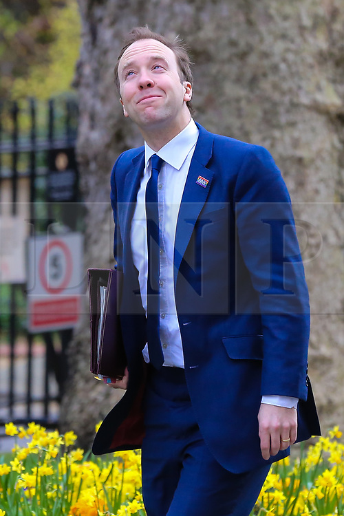 © Licensed to London News Pictures. 26/03/2019. London, UK. Matthew Hancock - Secretary of State for Health and Social care arrives in Downing Street for the weekly Cabinet meeting. Photo credit: Dinendra Haria/LNP