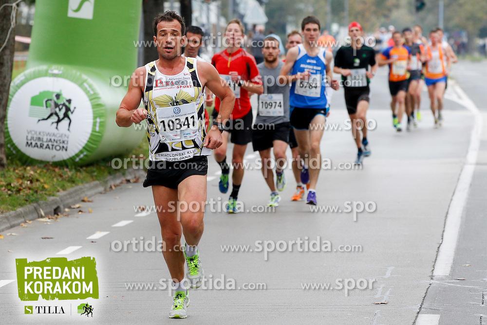 Mitja Mori compete during 21km and 42km run at 19th Ljubljana Marathon 2014 on October 26, 2014 in Ljubljana, Slovenia. Photo by Vid Ponikvar / Sportida.com