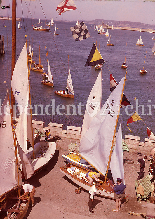 Yachting activity in D&uacute;n Laoghaire in the 1960's.<br /> (Part of the Independent Ireland Newspapers/NLI Collection)