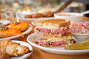 The Reuben sandwich at Kenny & Zuke's Deli in downtown Portland, Oregon.