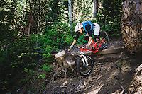 Syd Schulz rolling the trails at Deer Valley Resort, Wasatch Range, Utah.