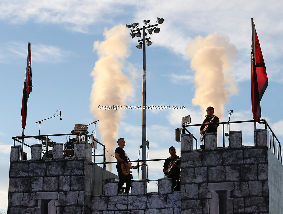 Pre Match entertainment before the Investec Super Rugby game between the Crusaders v Cheetahs at AMI Stadium in Christchurch. 21 March 2015 Photo: Joseph Johnson/www.photosport.co.nz
