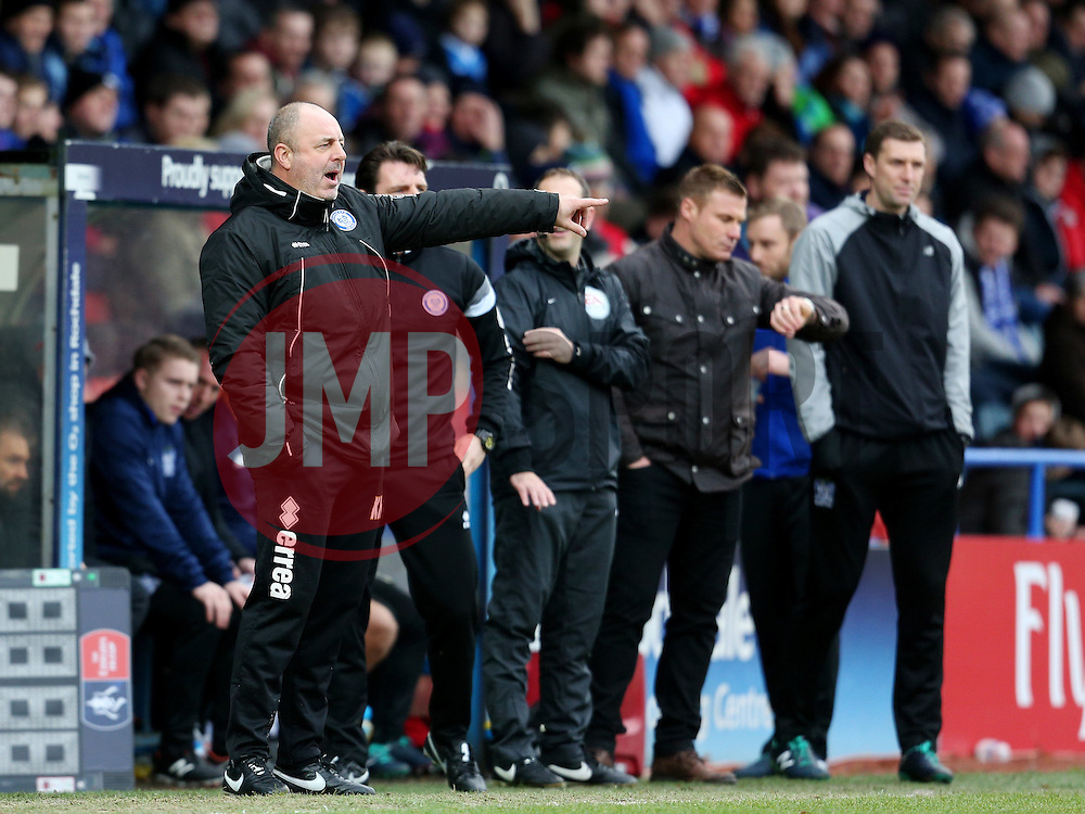 Rochdale Manager, Keith Hill and Bury Manager David Flitcroft  - Mandatory byline: Matt McNulty/JMP - 06/12/2015 - Football - Spotland Stadium - Rochdale, England - Rochdale v Bury - FA Cup