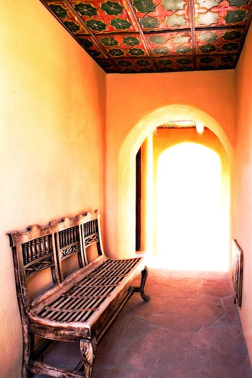 Southwestern passageway in Santa Fe, New Mexico.