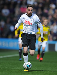 Richard Keogh Captain Derby County, Derby County v Brentford, Sy Bet Championship, IPro Stadium, Saturday 11th April 2015. Score 1-1,  (Bent 92) (Pritchard 28)<br /> Att 30,050