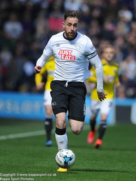 Richard Keogh Captain Derby County, Derby County v Brentford, Sy Bet Championship, IPro Stadium, Saturday 11th April 2015. Score 1-1,  (Bent 92) (Pritchard 28)<br /> Att 30,050