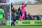 Forest Green Rovers goalkeeper Sam Russell(23) makes a save during the Vanarama National League match between Forest Green Rovers and Lincoln City at the New Lawn, Forest Green, United Kingdom on 19 November 2016. Photo by Shane Healey.