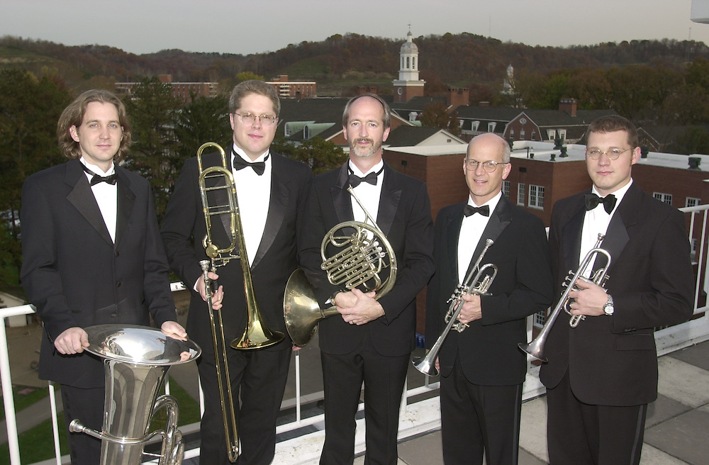 14475Brass Quintet with Scott Smith group portrait:roger Braun