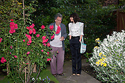 STEPHEN FREARS; BELLA FREUD, Freud Museum dinner, Maresfield Gardens. 16 June 2011. <br /> <br />  , -DO NOT ARCHIVE-© Copyright Photograph by Dafydd Jones. 248 Clapham Rd. London SW9 0PZ. Tel 0207 820 0771. www.dafjones.com.