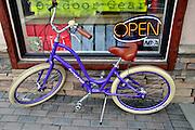 USA, Idaho, McCall, Purple Bike