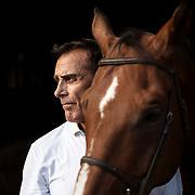 August 8, 2019 - Flemington, NJ : <br /> Portrait of Jonathan Soresi at his farm in Flemington, New Jersey. <br /> CREDIT: Karsten Moran for The New York Times