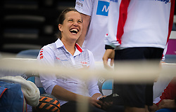 November 8, 2018 - Prague, Czech Republic - Barbora Strycova of the Czech Republic during practice ahead of the 2018 Fed Cup Final between the Czech Republic and the United States of America (Credit Image: © AFP7 via ZUMA Wire)