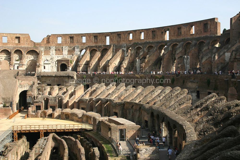 Inside the Colosseum historic roman monument, Rome Italy<br />