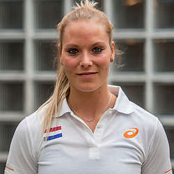 22-03-2017 NED: Teampresentatie EK Atletiek Indoor, Arnhem<br /> Nadine Broersen tijdens de teampresentatie van het atletiek EK indoor op Papendal.