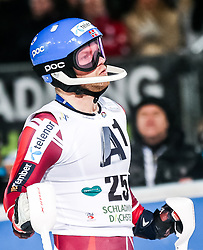 26.01.2016, Planai, Schladming, AUT, FIS Weltcup Ski Alpin, Schladming, Slalom, Herren, 2. Durchgang, im Bild Jonathan Nordbotten (NOR) // Jonathan Nordbotten of Norway reacts after his 2nd run of men's Slalom Race of Schladming FIS Ski Alpine World Cup at the Planai in Schladming, Austria on 2016/01/26. EXPA Pictures © 2016, PhotoCredit: EXPA/ Johann Groder