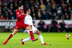 Leroy Fer of Swansea City is challenged by Emre Can of Liverpool - Rogan/JMP - 22/01/2018 - FOOTBALL - Liberty Stadium - Swansea, Wales - Swansea City v Liverpool - Premier League.