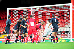 Bristol City U21's Tom King scores a header from a corner - Photo mandatory by-line: Dougie Allward/Josephmeredith.com  - Tel: Mobile:07966 386802 04/09/2012 - SPORT - FOOTBALL - Professional Development League -  Bristol  - Ashton Gate -  Bristol City U21s v Brentford U21s