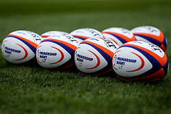 Premiership Rugby balls at Welford Road Stadium, home to Leicester Tigers, ahead of the Premiership Rugby Cup fixture with Worcester Warriors - Mandatory by-line: Robbie Stephenson/JMP - 03/11/2018 - RUGBY - Welford Road Stadium - Leicester, England - Leicester Tigers v Worcester Warriors - Gallagher Premiership Rugby