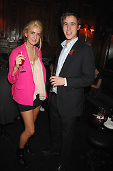 TALLULAH RUFUS-ISAACS and LUKE THOMSON at a party to celebrate the publication of the 2007 Tatler Little Black Book held at Tramp, 40 Jermyn Street, London on 7th November 2007.<br />