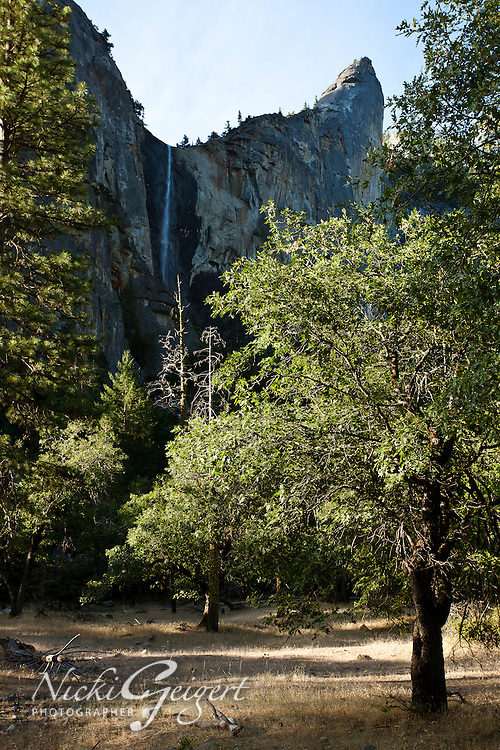 Yosemite landscape with distant waterfall. Landscape and nature photography wall art. Fine art photography prints for sale.