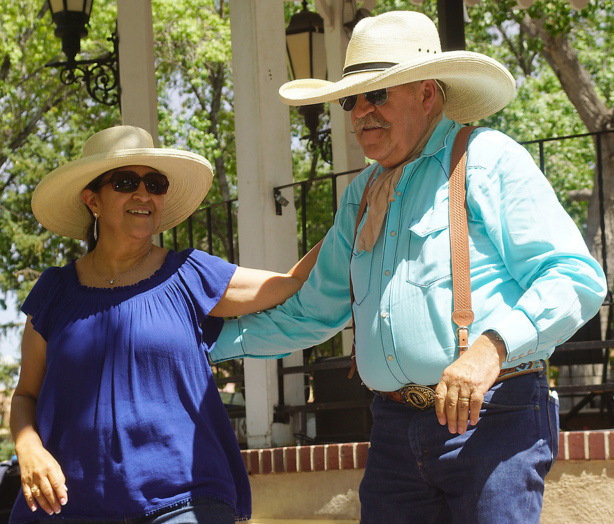 apl071617b/ASECTION/pierre-louis/JOURNAL 071517<br /> Douglas Carter,, and his wife Betty Maes-Carter,, dance  during  the Western Music Youth Day held at at the Old Town Gazebo .Photographed on Sunday July  16,  2017. .Adolphe Pierre-Louis/JOURNAL