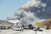 August 16, 2016 - Rancho Cucamonga, California, U.S. - <br /> <br /> The Blue Cut fire burns in the Cajon Pass and closes Interstate 15 in both directions on Tuesday. The fire scorched at least 6,500 acres of land and forced tens of thousands of people to evacuate as several structures burned. <br /> ©Exclusivepix Media