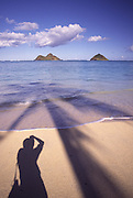 Mokulua Islands, Lanikai Beach, Oahu, Hawaii<br />