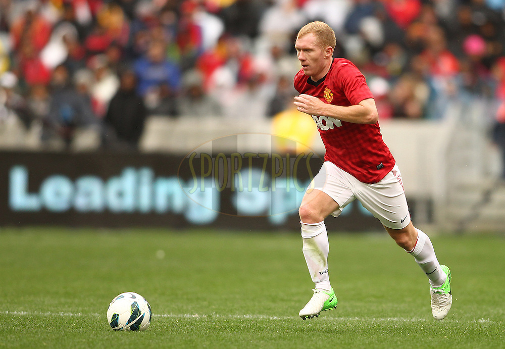 Paul Scholes of Manchester United on the attack during the Football Invitational 2012 match between Ajax Cape Town and Manchester United held at Cape Town Stadium on 21 July 2012 in Cape Town, South Africa..Photo by Shaun Roy / Sportzpics