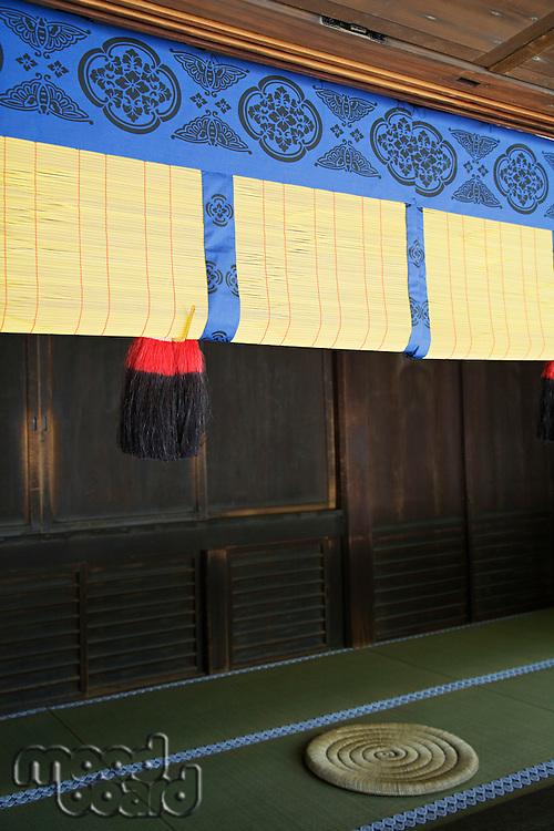 Rolled Reed Screen in Meiji Shrine