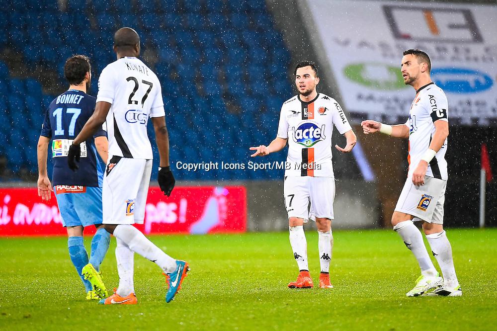 Djibril KONATE / Alexandre BONNET / Martin MIMOUN / Anthony GONCALVES  - 12.12.2014 - Le Havre / Laval - 17eme journee de Ligue 2 <br /> Photo : Fred Porcu / Icon Sport