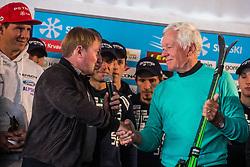 Bojan Krizaj and Tone Vogrinec at media day of Ski Association of Slovenia before new winter season 2018/19, on October 4, 2018 in Ski resort Pohorje, Maribor, Slovenia. Photo by Grega Valancic / Sportida