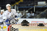 KELOWNA, CANADA, OCTOBER 22:  The Victoria Royals visited the Kelowna Rockets on October 22, 2011 at Prospera Place in Kelowna, British Columbia, Canada (Photo by Marissa Baecker/shootthebreeze.ca) *** Local Caption ***