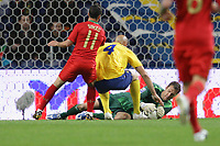 20090328: PORTO, PORTUGAL - Portugal vs Sweden: World Cup 2010 Qualifying Match. In picture:  isaksson and simao and majstorovic. PHOTO: Ricardo Estudante/CITYFILES