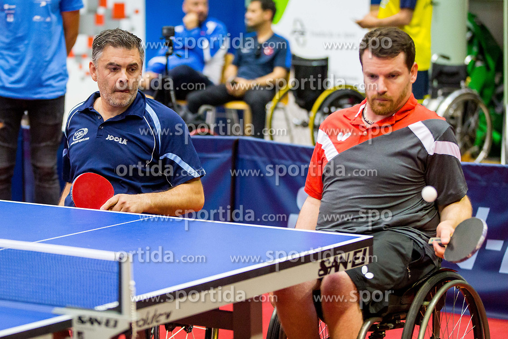 (Team FRA) MERRIEN Florian and GIL-MARTINS Stephane in action during 15th Slovenia Open - Thermana Lasko 2018 Table Tennis for the Disabled, on May 10, 2018 in Dvorana Tri Lilije, Lasko, Slovenia. Photo by Ziga Zupan / Sportida